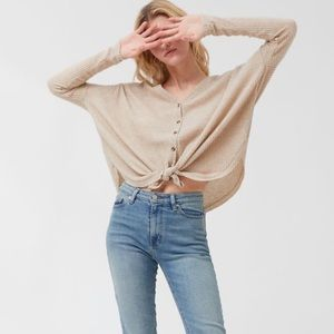 Out from Under boyfriend fit waffle knit sweater